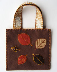 Autumn Leaves Felt Purse