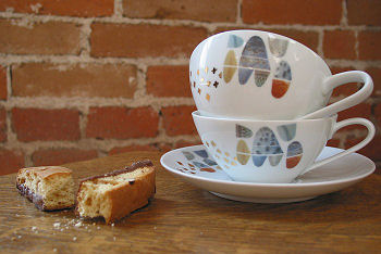 Mud Puppy's Abstract Modern Tea Cup & Saucer