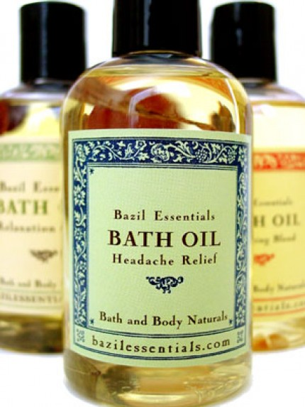Bazil Essentials Headache Relief Bath Oil