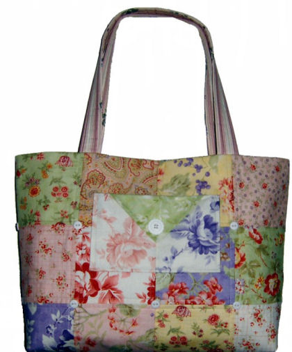 Charm Party Tote from Quilts Illustrated