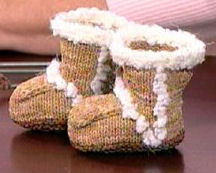 Baby Uggs by Knittinchick