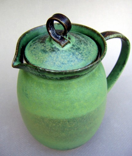 Norway Spruce Green Pitcher by Alina Hayes