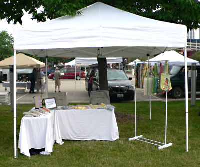 Peoria RiverFront Market Booth Set Up - Week 2