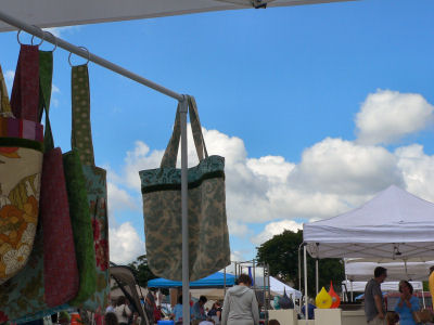The view from my booth at the market. Can you believe that sky?