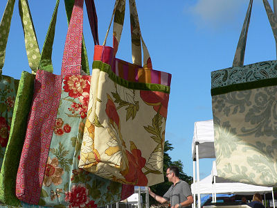 New quilted tote bags.