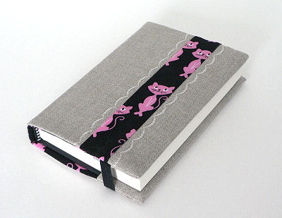 Fabric Journal Cover in Retro Kitty