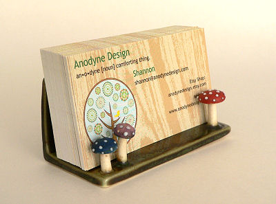 Mushroomy Business Card Holder from Ginpins