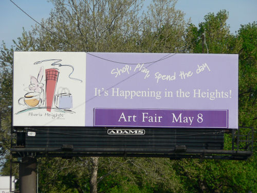 Peoria Heights Art Fair Billboard
