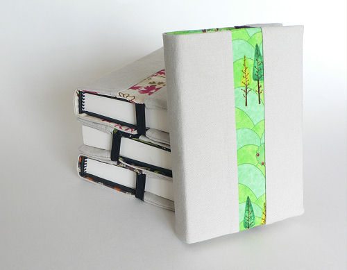 Fabric Covered Mini Journals