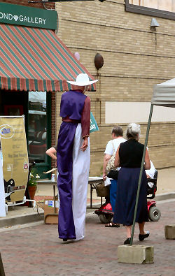 Stilts at First Friday in Galesburg, IL