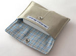 Eco Card Wallet in Twill & Plaid