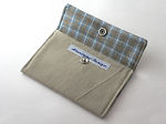 Eco Card Wallet in Twill & Brown Plaid