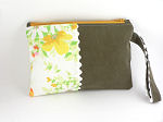 Eco Wristlet in Yellow Flowers