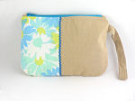 Eco Wristlet in Blue Daisies