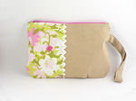 Eco Wristlet in Pink Flowers