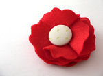 Red Flower Barrette